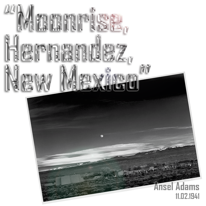 Ansel Adams Moonrise Hernandez New Mexico Caf Tjf Kff Leadville