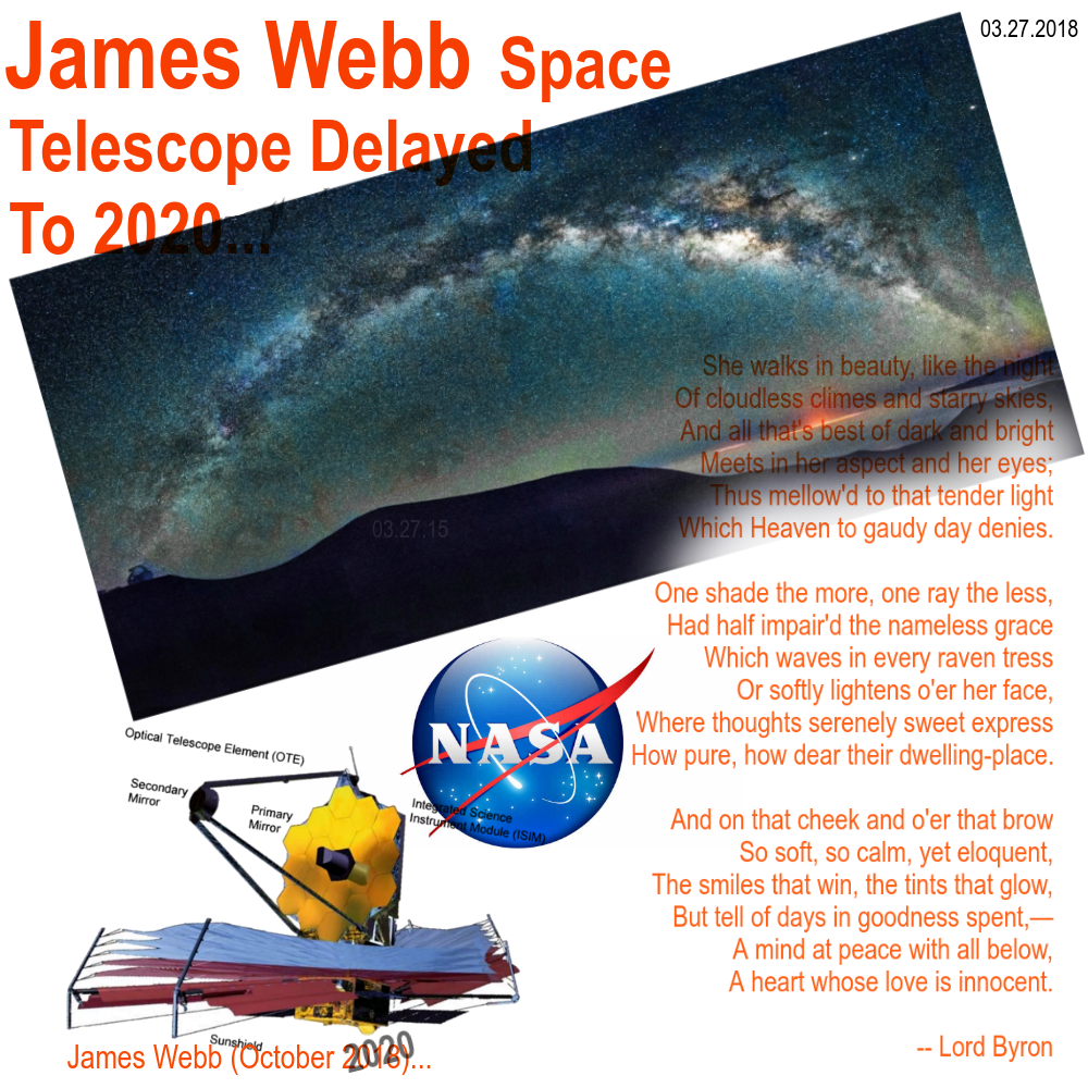 James Webb Space Telescope Second Delay To 2020 Sadness And